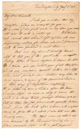 Autograph letter on the reconstructed and reopened President's house.]. Mary Ashmun