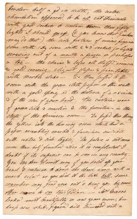 [Autograph letter on the reconstructed and reopened President's house.]