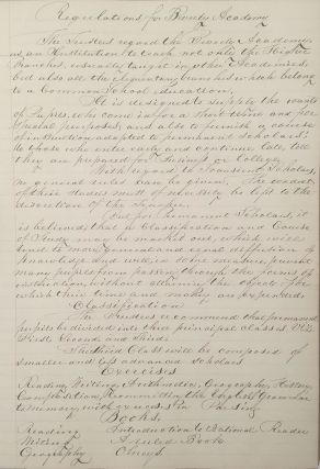 [Manuscript archive relating to Beverly Academy].