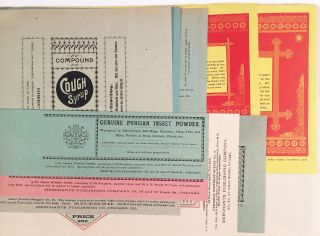 Partial List of Wrappers, Manufactured by Merchants Publishing Company, Chicago, Illinois.