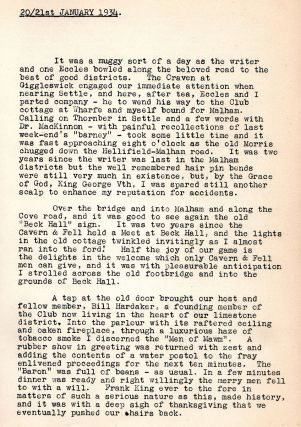 The Log Book of the Northern Cavern and Fell Club 1934. [cover-title]: Cavern and Fell 1934 Records .