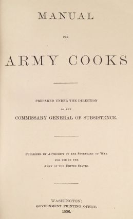 Manual for Army Cooks.