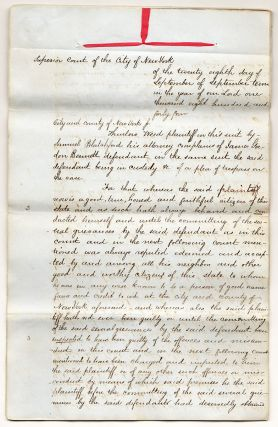 Legal papers relating to the Roorback Forgery.]. Samuel Blatchford