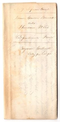 [Legal papers relating to the Roorback Forgery.]