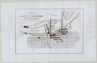 Map of a Part of the City of Richmond Showing the Burnt Districts. . L. Ludwig, del., harles