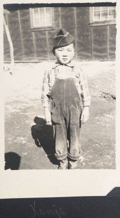 [Personal photo album chronicling life at the Poston Internment Camp.]
