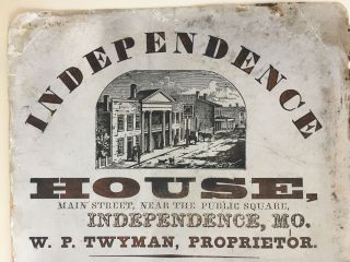 Independence House, Main Street, Near the Public Square, Independence, MO.