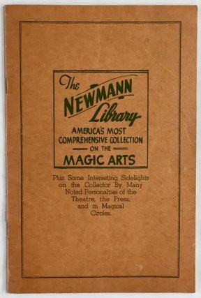 Newmann's Magical Library. Some interesting data on this great collection, and its owner, who...