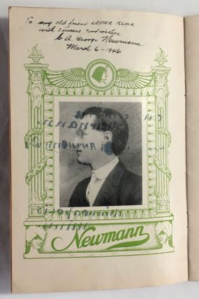 Newmann's Magical Library. Some interesting data on this great collection, and its owner, who for nearly fifty years has entertained the public with demonstrations of hypnotism, Mind Reading and Occult Psychic Phenomena.