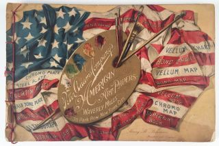 Samples of the Peter Adams Company's American Art Papers made at the Company's Waverly Mills,...