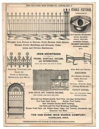 Van Dorn Iron Works Co. Jail Architects and Manufacturers. Form 51.