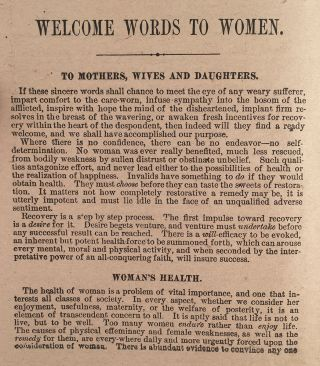Welcome Words to Women.