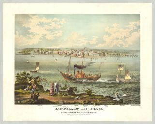 Detroit in 1820, From an original sketch made in 1820 by George H. Whistler C. E. With View of...