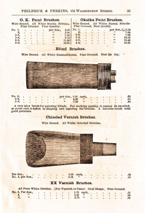 Illustrated Catalog from Philbrick & Perkins of Artists' Materials and Painters' Supplies. Wholesale and Retail, at 152 Washington Street, Salem, Mass.