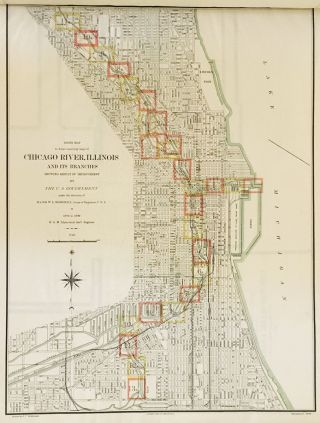 Atlas Containing Maps of Chicago River, Illinois and its Branches Showing Result of Improvement...