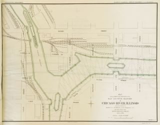 Atlas Containing Maps of Chicago River, Illinois and its Branches Showing Result of Improvement by The U.S. Government Under Direction of Major W. L. Marshall, Corps of Engineers U.S.A in 1896 to 1899. G. A. M. Liljencrantz, Ass't Engineer.