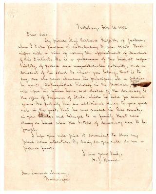 Letters of recommendation for Richard Griffith relating to his effort to secure appointment as...