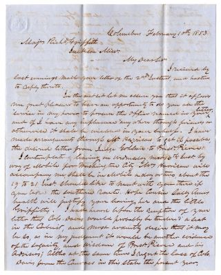[Letters of recommendation for Richard Griffith relating to his effort to secure appointment as U.S. Marshall of Mississippi.]