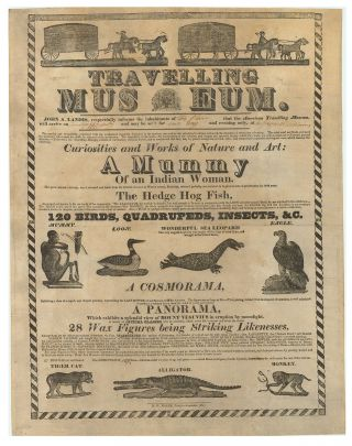 Travelling Museum…Curiosities and Works of Nature and Art: A Mummy of an Indian Woman…The...