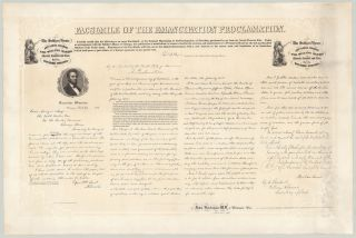 Facsimile of the Emancipation Proclamation. Abraham Lincoln