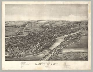 Central and Northern Part of Waterville, Maine. George E. Norris, artist