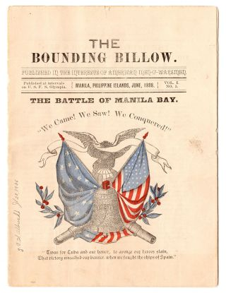 The Bounding Billow. Published in the Interests of American Men-O'-Warsmen. Vol. I, No. 5. L....