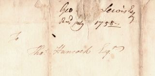 [Autograph letter from a soldier at Fort Cumberland to Thomas Hancock of Boston].