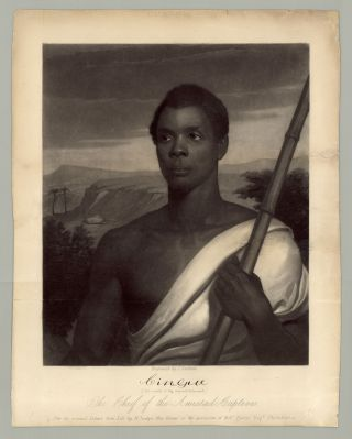 Cinque, Chief of the Amistad Captives. After the original Picture from Life by N. Jocelyn, New...