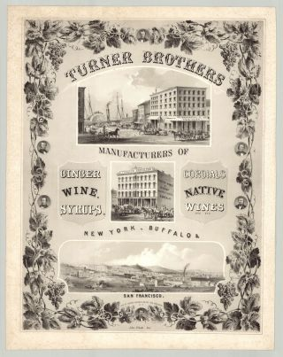 Turner Brothers Manufactuers of Ginger Wine, Syrups, Cordials, Native Wines, etc.. etc…New...