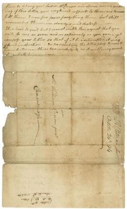 [Autograph letter, signed, from Robert Patterson to William Canon, discussing the Whiskey Rebellion in western Pennsylvania, the federal troops sent to crush it, his detention and interrogation, and an encounter with Alexander Hamilton.]