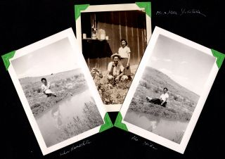[Photo album of a young Japanese-American woman interned at Heart Mountain Relocation Center.]