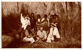 [Real photo postcards of Composer Thurlow Lieurance performing music with Native Americans.]
