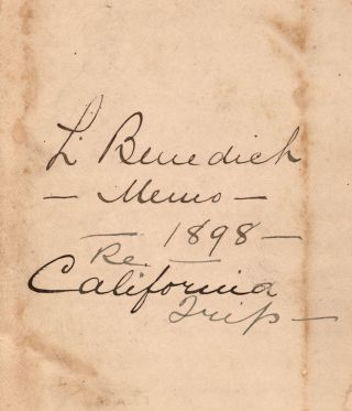 [A Canadian's manuscript travel diary of a trip to California and the Pacific Northwest].
